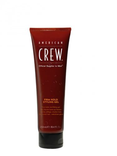 American Crew Firm Hold Styling Gel Fissaggio Forte Senza Residui 250ml