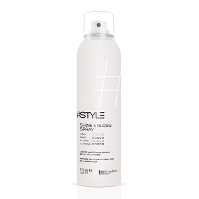 Dott. Solari #Style Shine & Gloss Spray Capelli Incredibilmente Glamour Per Un Tocco Vellutato 150ml