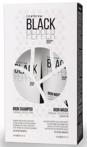 Inebrya Black Pepper Iron Kit Shampoo + Maschera Rinforzante