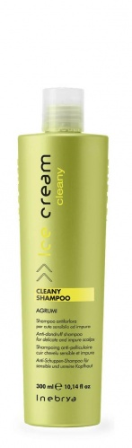Inebrya Cleany Shampoo agrumi, antiforfora ideale per cute sensibile ed impura 300ml