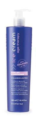 Inebrya Hair Lift Conditioner Collagene & Zaffiro Conditioner Rigenerante Capelli Maturi, Porosi, Trattati 300ml