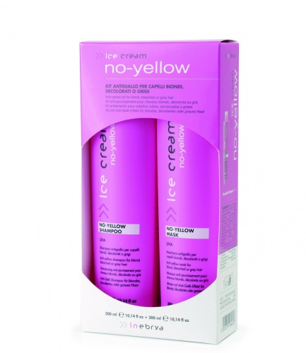 Inebrya No Yellow Mask Uva Shampoo + Maschera da 300 ml