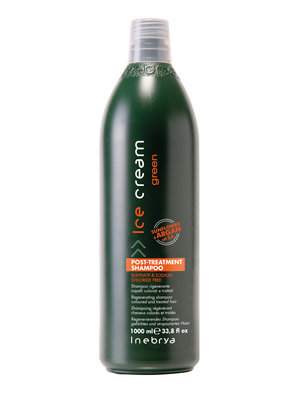 Inebrya Post-Treatment Shampoo rigenerante per capelli colorati e trattati 1000ml