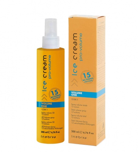 Inebrya Volume One Spray Volume Totale 15 Azioni 200ml