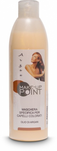 Make-Up Point Maschera Specifica per Capelli Colorati Olio di Argan 250ml