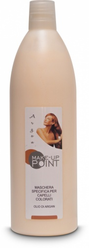 Make-Up Point Maschera Specifica per Capelli Colorati Olio di Argan 1000ml